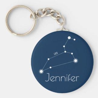 Personalized Leo Zodiac Constellation キーホルダー