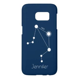 Personalized Libra Zodiac Constellation Samsung Galaxy S7 ケース