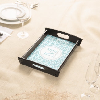 Personalized Paradise Blue & White Serving Tray 2 トレー