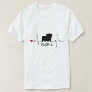 Personalized Pug Love My Dog Heart Beat Tシャツ