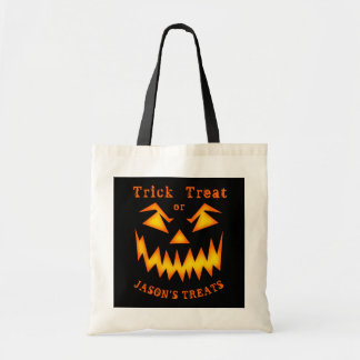 Personalized Scary Pumpkin Halloween Bag トートバッグ