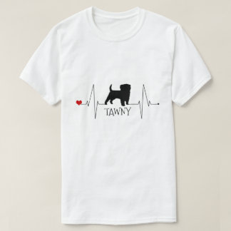 Personalized Terrier Love My Dog Heart Beat Tシャツ