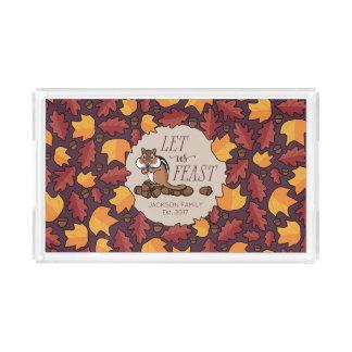 Personalized Thanksgiving Chipmunk Fall Feast アクリルトレー