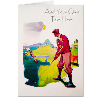 Personalized Vintage Golf Card カード