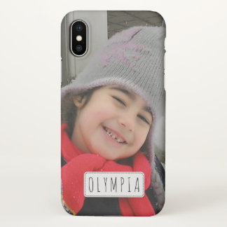 Personalized with photo and name iPhone X case iPhone X ケース