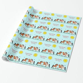 Personaliziedの馬の相棒の包装紙 ラッピングペーパー