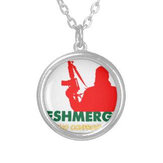 PESHMERHA -人WHOは死に直面します シルバープレートネックレス