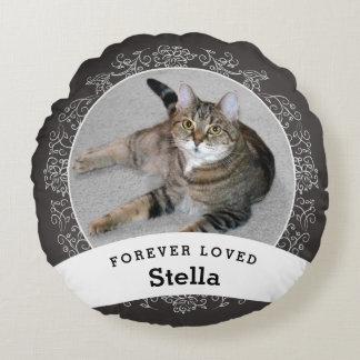 Pet Memorial Personalized Chalkboard Add Photo ラウンドクッション