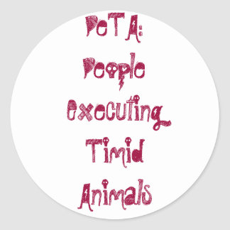 PeTA: PeopleExecutingTimidAnimals ラウンドシール