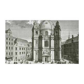Peterskircheの眺め キャンバスプリント