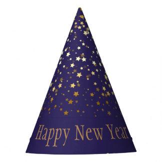 Petite Silver Stars Happy New Year Hat-Purple パーティーハット