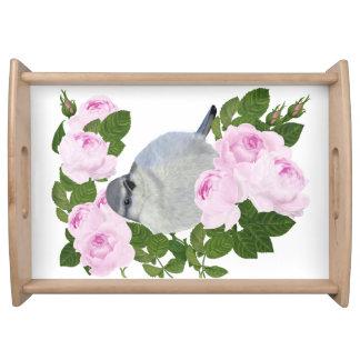 "PetitRose ""小さい鳥およびバラ"" トレー"