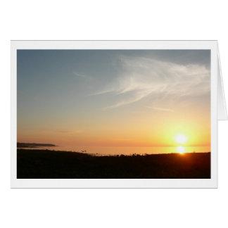 Petoskeyの海岸線の日没(ブランク) カード