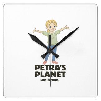 Petraの惑星の柱時計 スクエア壁時計