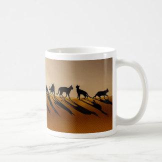 Petraの砂漠猫 コーヒーマグカップ