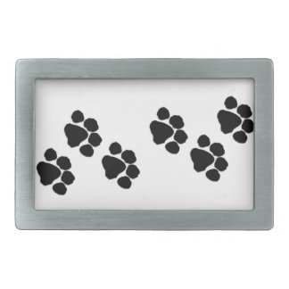 Pets Paw Prints 長方形ベルトバックル