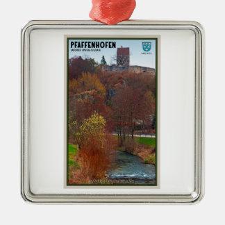 Pfaffenhofen シルバーカラー正方形オーナメント