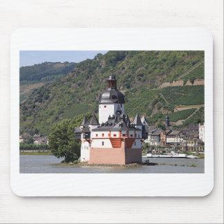 Pfalzgrafensteinの城、Rhine川、ドイツ2 マウスパッド