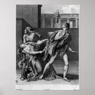 Phaedra、OenoneおよびHippolytus ポスター