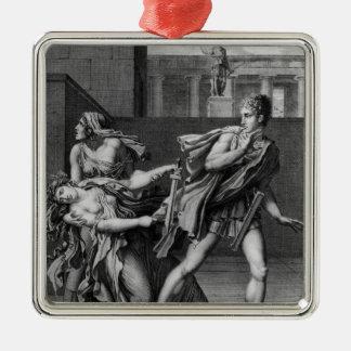 Phaedra、OenoneおよびHippolytus メタルオーナメント