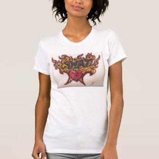 Phatかわいらしい熱いおよび厚く Tシャツ