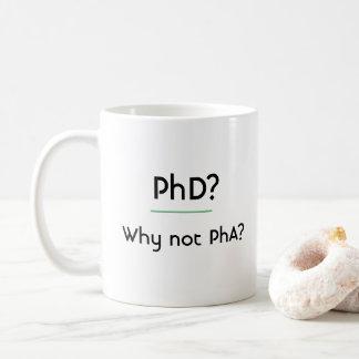 PhDか。 なぜないPhAか。 コーヒーマグカップ