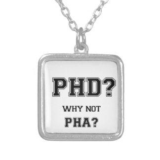PhDか。 なぜないPhAか。 大きな期待のアジア人の父 シルバープレートネックレス