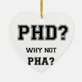 PhDか。 なぜないPhAか。 PhDの卒業のギフト セラミックオーナメント