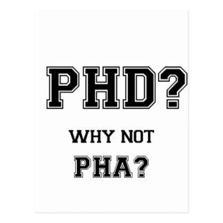 PhDか。 なぜないPhAか。 PhDの卒業のギフト ポストカード