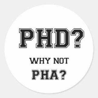 PhDか。 なぜないPhAか。 PhDの卒業のギフト ラウンドシール