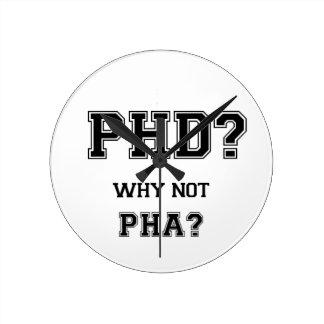 PhDか。 なぜないPhAか。 PhDの卒業のギフト ラウンド壁時計