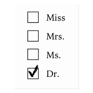 PhDの卒業の郵便はがき ポストカード