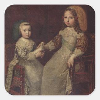 Philippを持つ子供として王ルイ14世(1638-1715年) スクエアシール