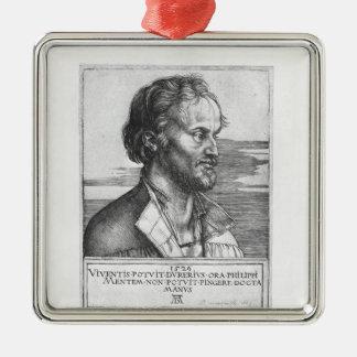 Philipp Melanchthon 1526年のポートレート メタルオーナメント