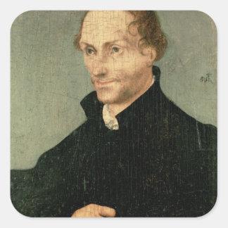 Philipp Melanchthon 1532年のポートレート スクエアシール