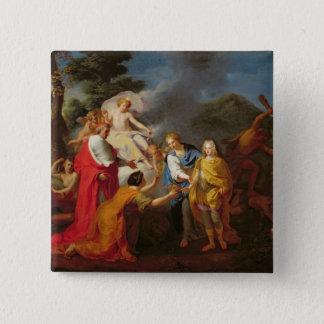 Philippe deフランスの認識のアレゴリー 5.1cm 正方形バッジ