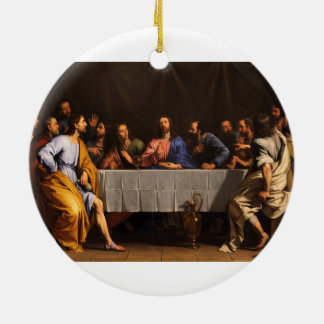 Philippe de Champaigne (1648年)著最後の晩餐 セラミックオーナメント