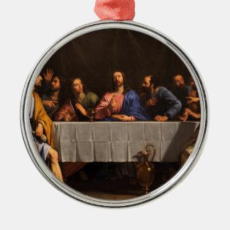 Philippe de Champaigne (1648年)著最後の晩餐 メタルオーナメント