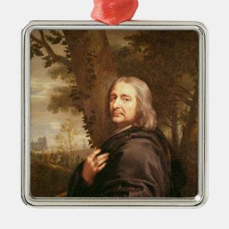 Philippe de Champaigne 1668年のポートレート メタルオーナメント