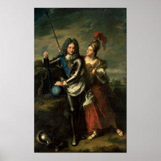 Philippe IIのd'Orleansフランスの理事 ポスター