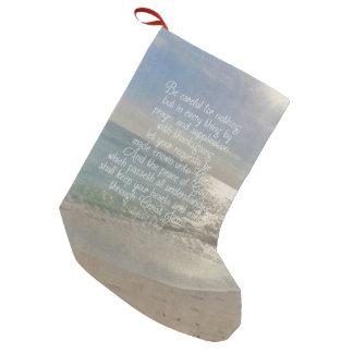 Philippiansの4:13の平和聖書の詩のビーチのクリスチャン スモールクリスマスストッキング