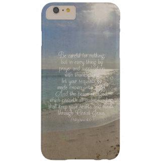 Philippiansの4:13の平和聖書の詩のビーチのクリスチャン スリム iPhone 6 Plus ケース