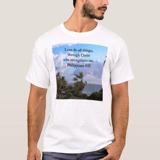 PHILIPPIANSの4:13の祈りの言葉 Tシャツ