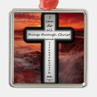 Philippiansの4:13 メタルオーナメント