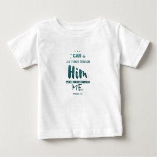 Philippiansの4:13 -私はすべての事をしてもいいです-ベビーのギフト ベビーTシャツ