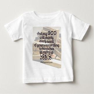 Philippiansの4:19 ベビーTシャツ