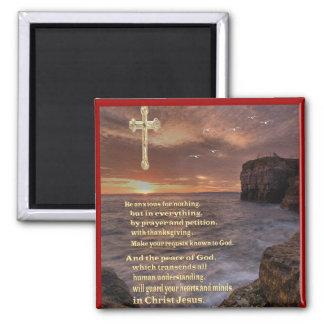 Philippiansの4:6のクリスチャンのギフト マグネット
