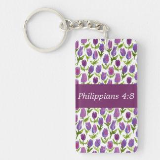 Philippiansの4:8 キーホルダー