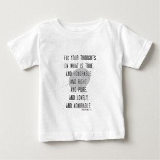 Philippiansの4:8 ベビーTシャツ