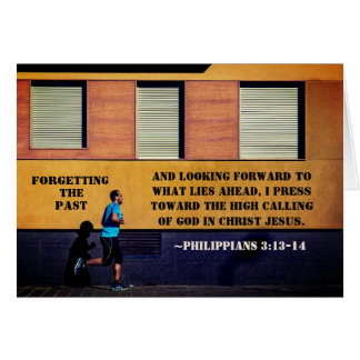 Philippians 3:13-14 Forgetting the Past カード